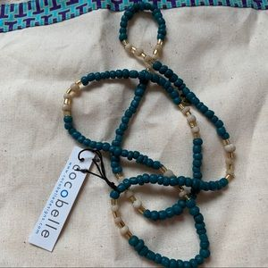 NWT Cocobelle Teal Necklace ✨